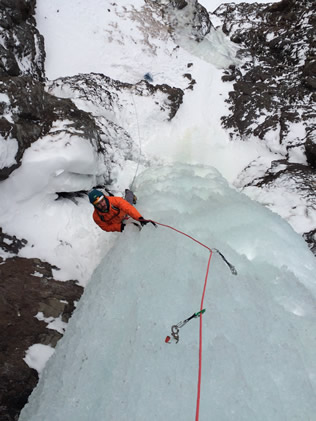 Following Vertical Ice