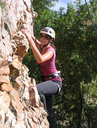 Climbing at Reservoir Ridge